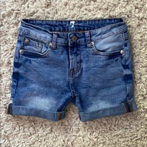 7 for All Mankind adorable jean shorts. Girls 10